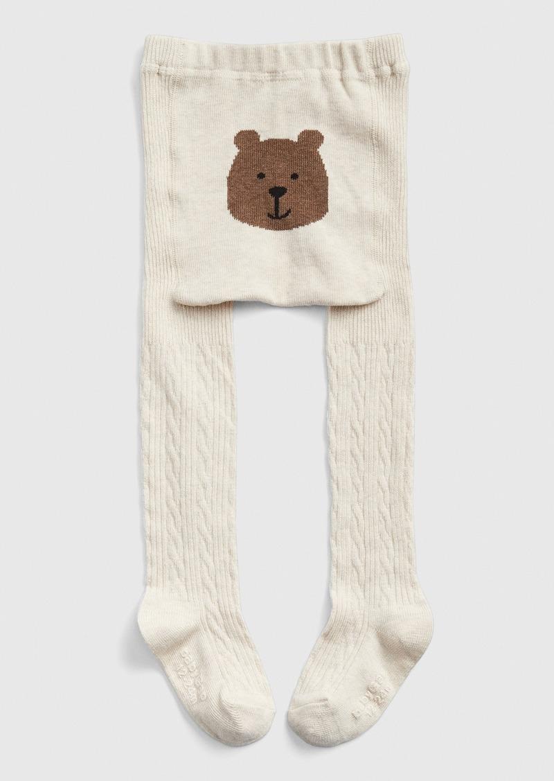 Gap Toddler Bear Cable-Knit Tights