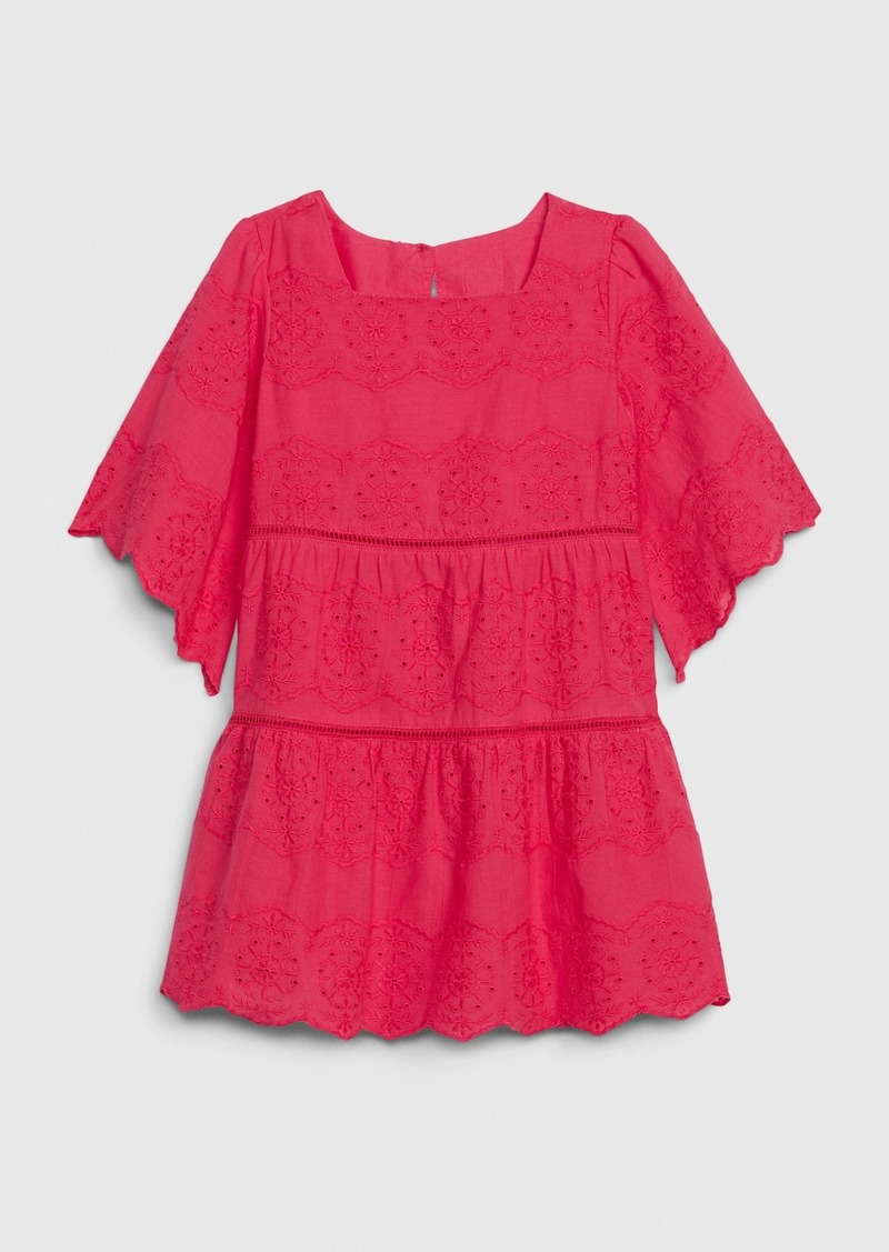 Gap Toddler Bell-Sleeve Eyelet Dress