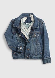 Gap Toddler BetterMade Pleated Denim Jacket