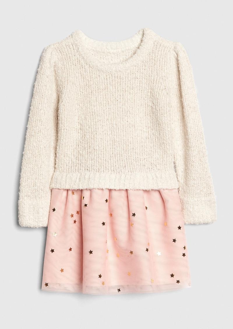 Gap Toddler Boucle Mix-Media Dress