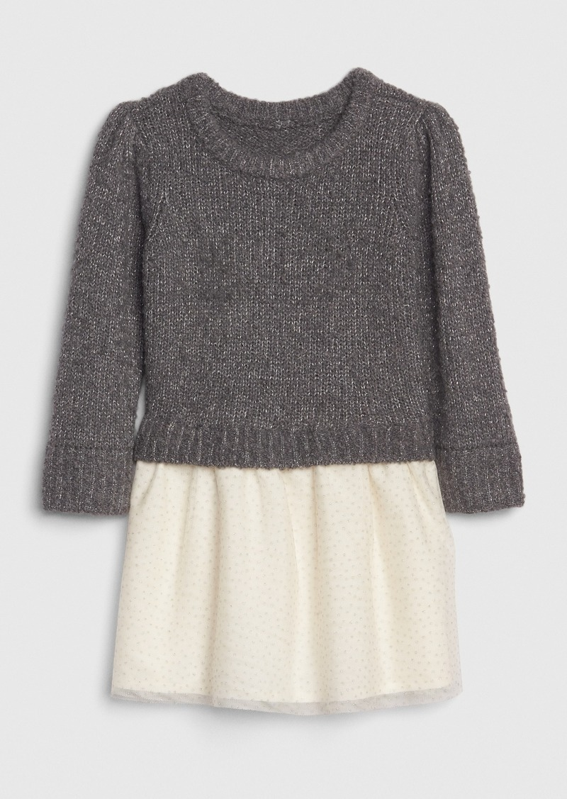 Gap Toddler Boucle Mix-Media Dress