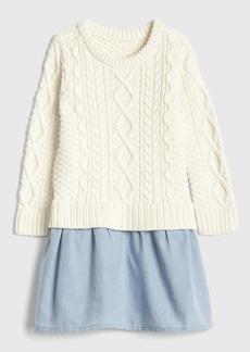 Gap Toddler Cable-Knit Mix Media Dress
