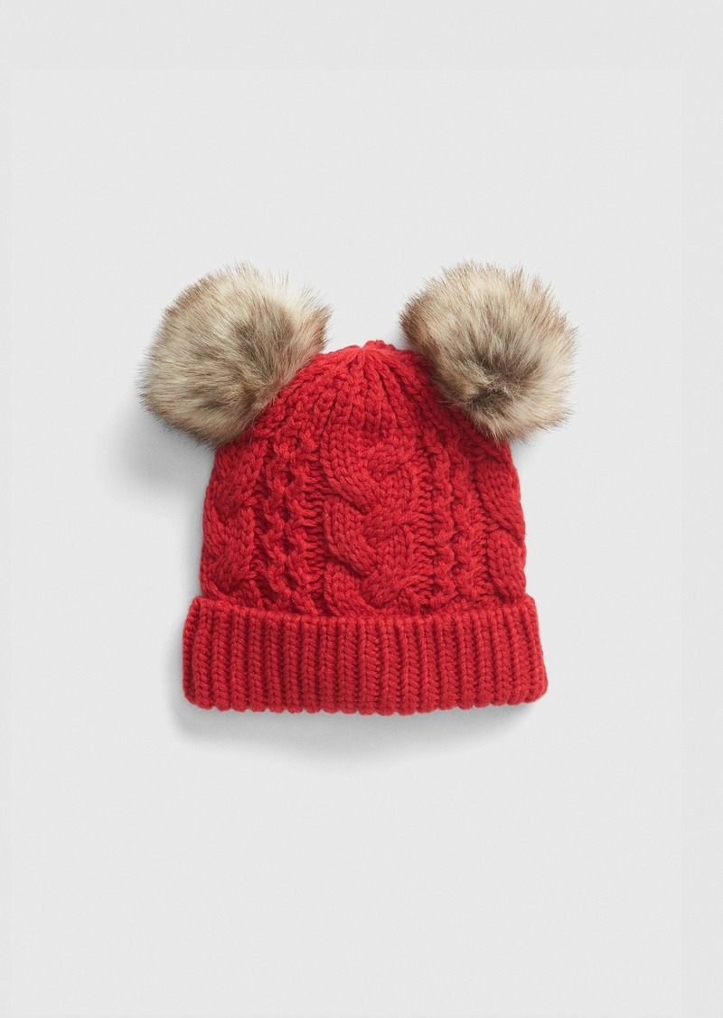 Gap Toddler Cable-Knit Pom Beanie