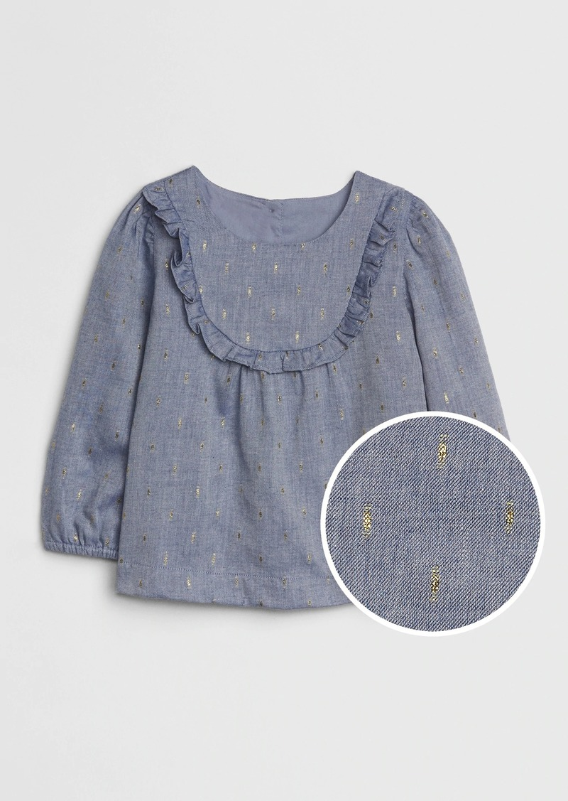 Gap Toddler Chambray Glitter Top