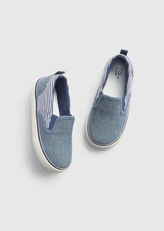 Gap Toddler Chambray Stripe Slip-On Sneakers
