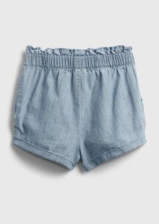 Gap Toddler Chambray Utility Pull-On Shorts