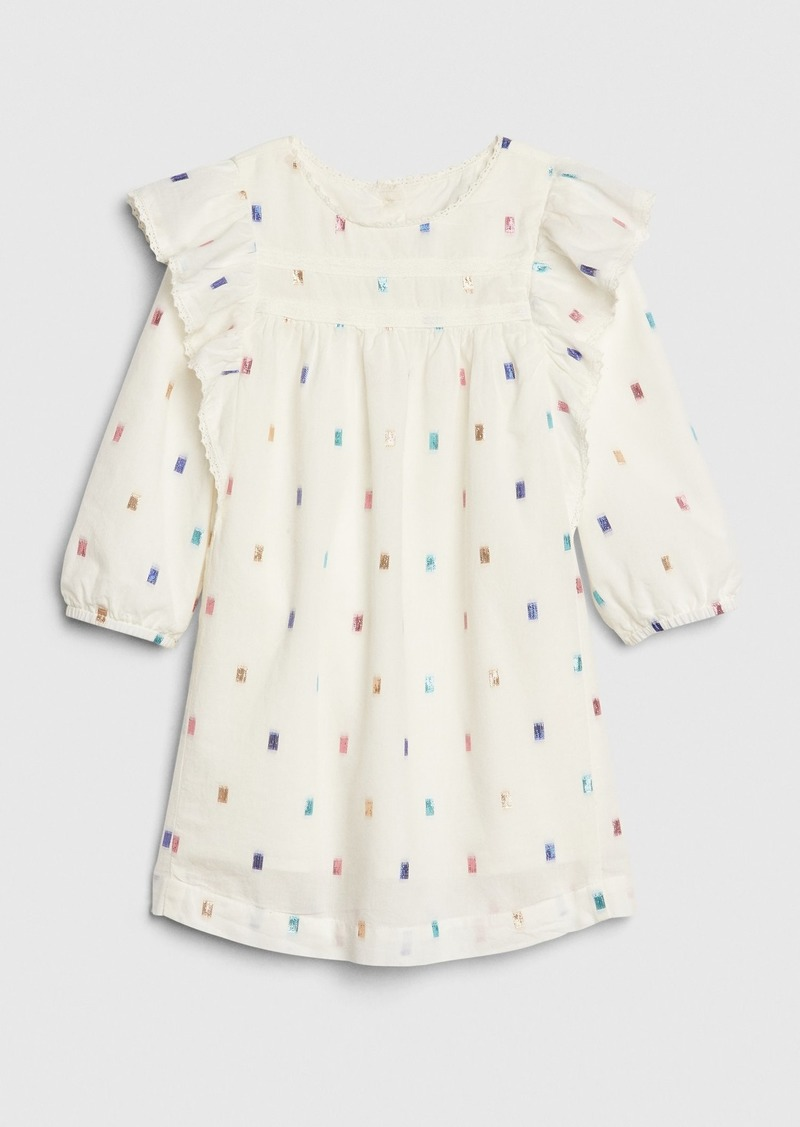 Gap Toddler Clip-Dot Flutter Dress