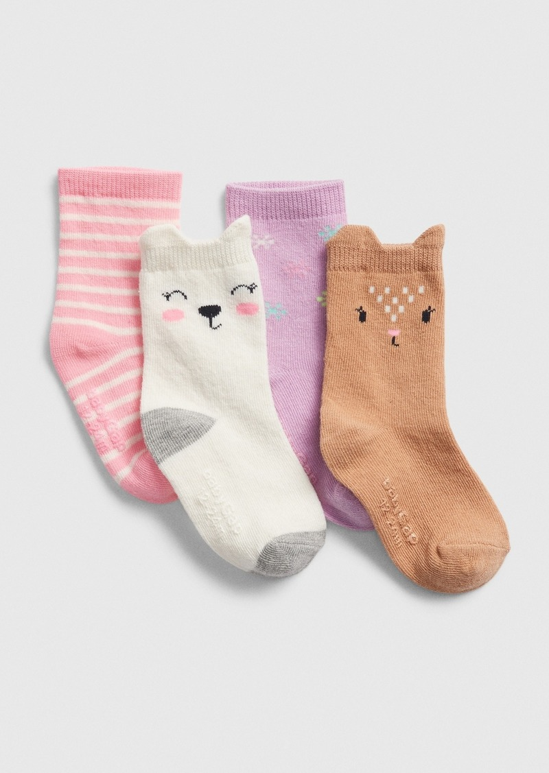 Gap Toddler Critter Crew Socks (4-Pack)
