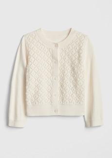 Gap Toddler Crop Pointelle Cardigan Sweater