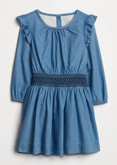 Gap Toddler Denim Smocked Dress