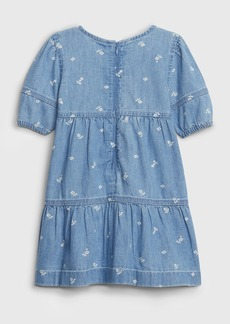Gap Toddler Denim Tiered Dress