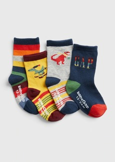 Gap Toddler Dino Crew Socks (4-Pack)