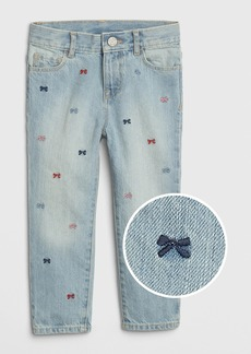 Gap Toddler Embroidered Bow Girlfriend Jeans