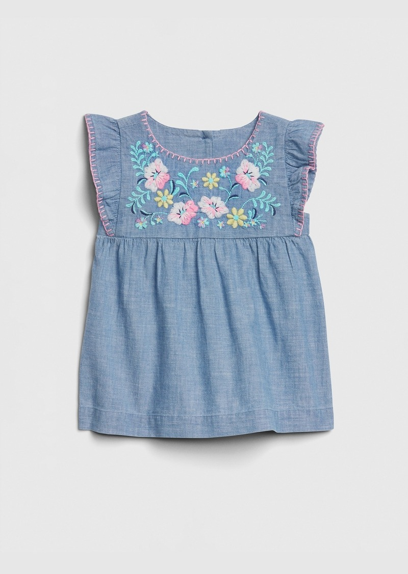 Gap Toddler Embroidered Chambray Top