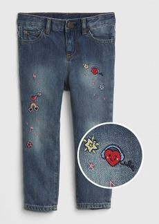 Gap Toddler Embroidered Girlfriend Jeans