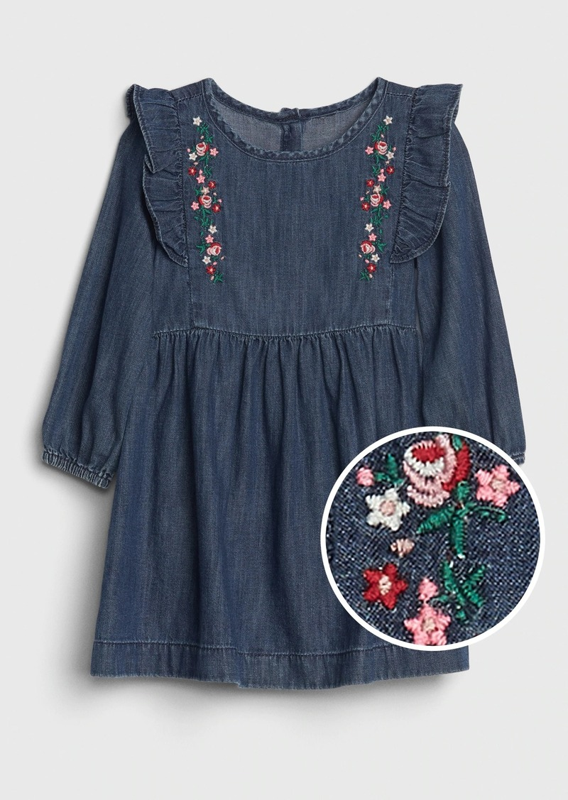 Gap Toddler Embroidered Ruffle Dress