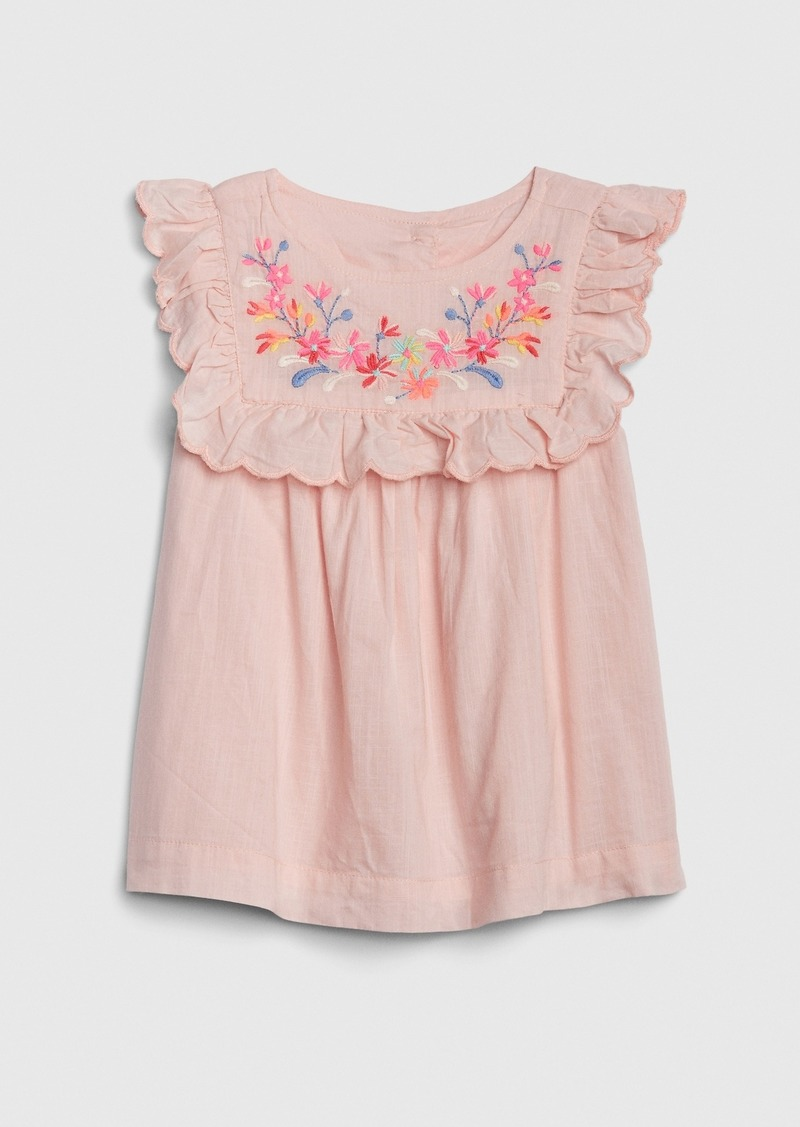 Gap Toddler Embroidered Ruffle Top