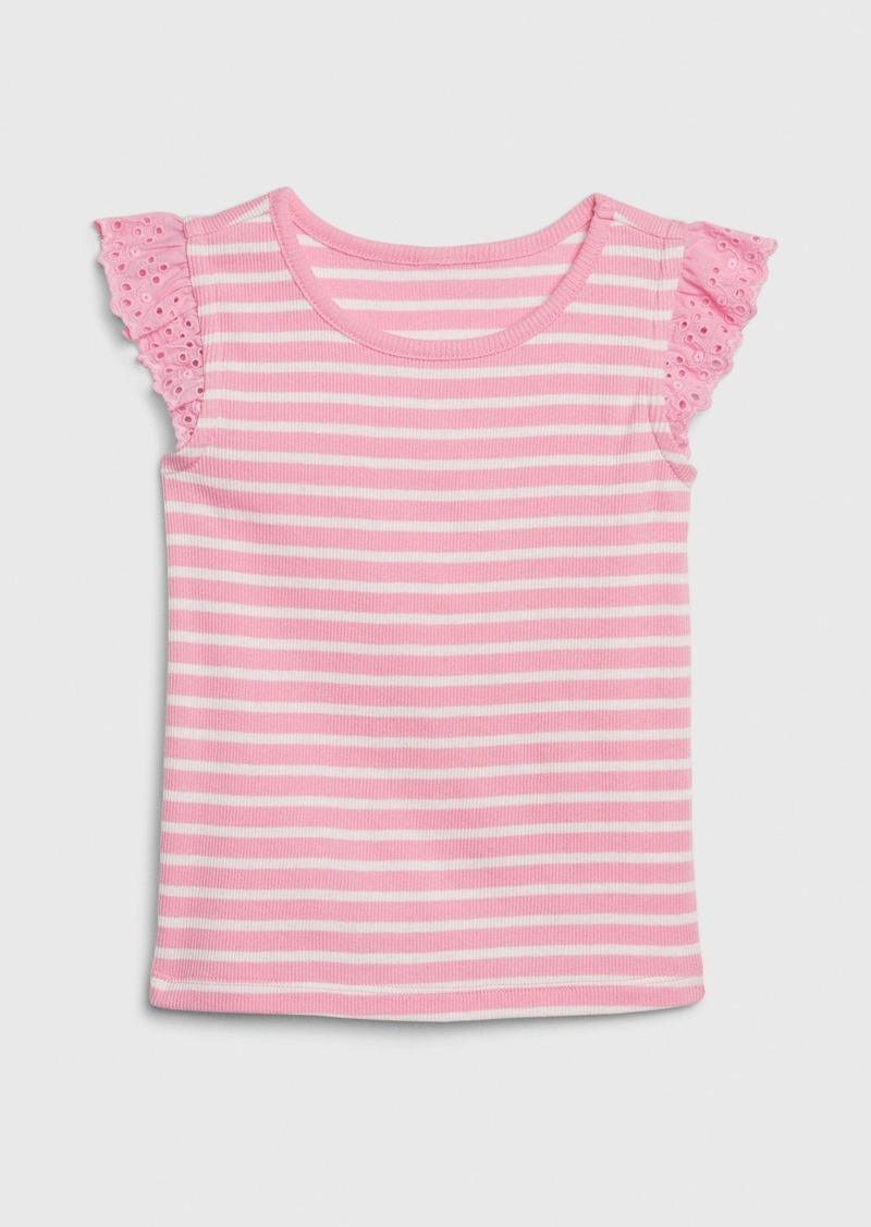 Gap Toddler Eyelet Flutter T-Shirt