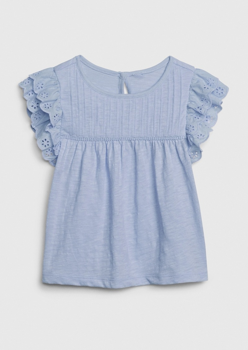 Gap Toddler Eyelet Pintuck Top