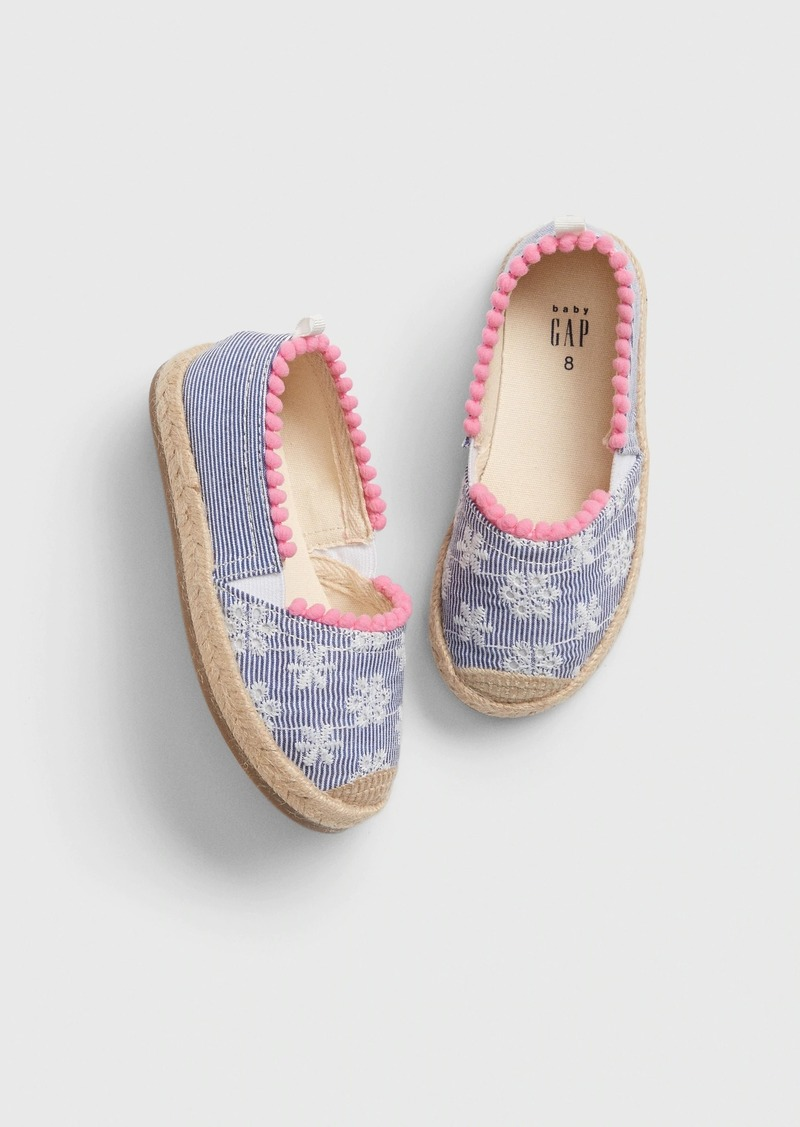 Gap Toddler Eyelet Stripe Espadrille Flats