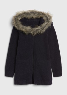 Gap Toddler Faux-Fur Cardi Sweater