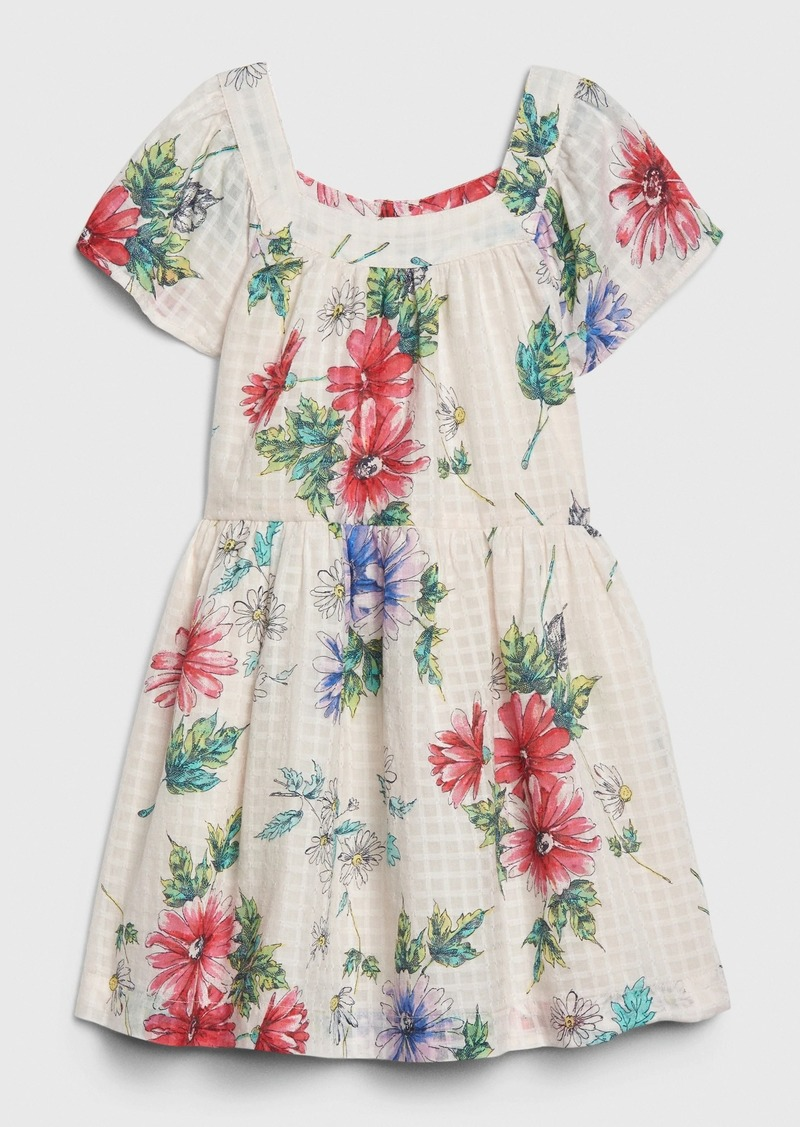 Gap Toddler Floral Squareneck Dress