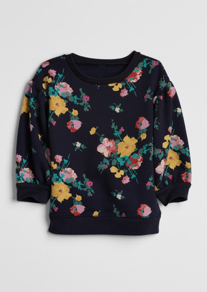 Gap Toddler Floral Tunic Sweatshirt