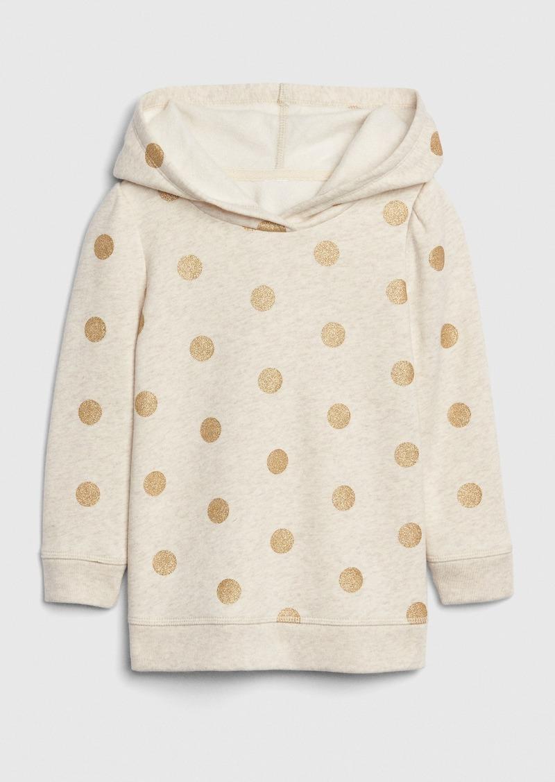 Gap Toddler Glitter Print  Hoodie Tunic Sweatshirt