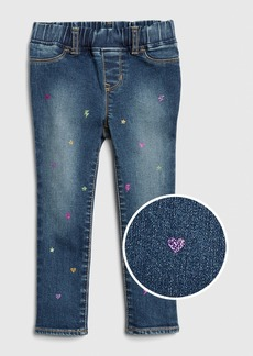 Gap Toddler Glitter Print Jeggings with Fantastiflex