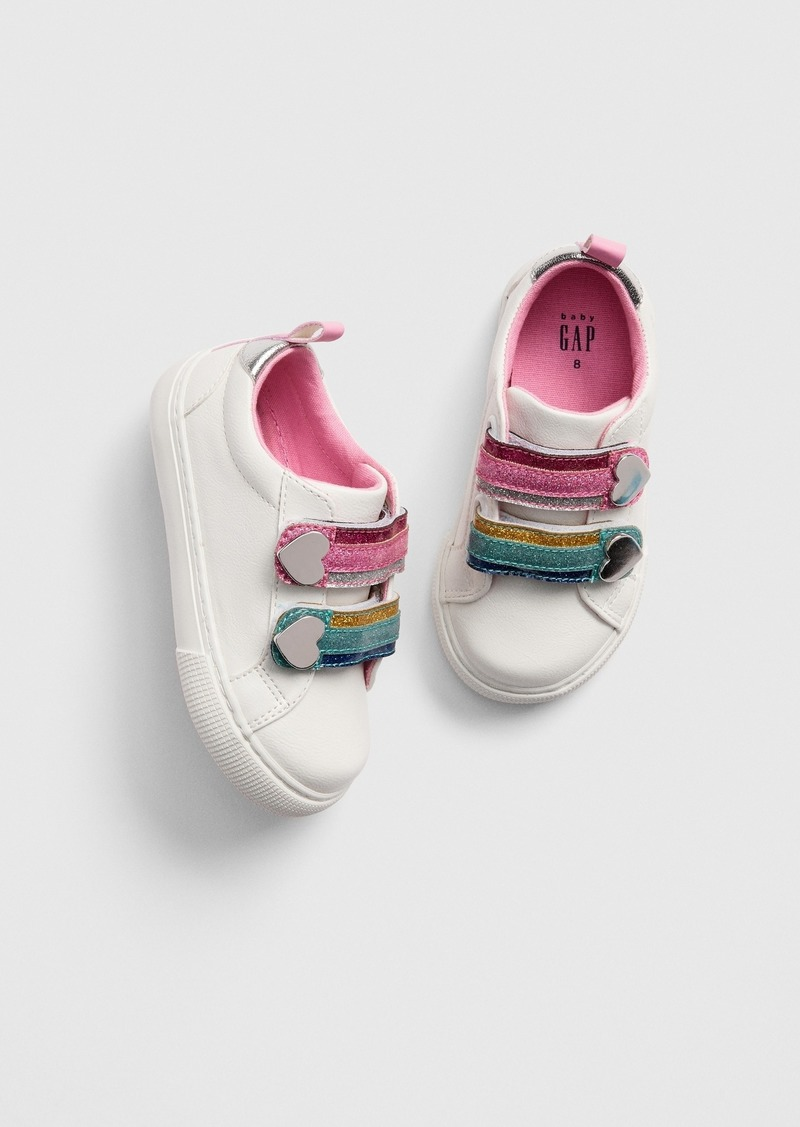 Gap Toddler Glitter Rainbow Sneakers