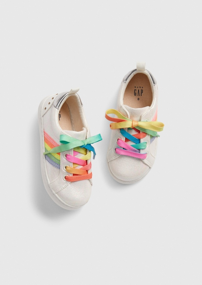 Gap Toddler Glitter Rainbow Stripe Sneakers
