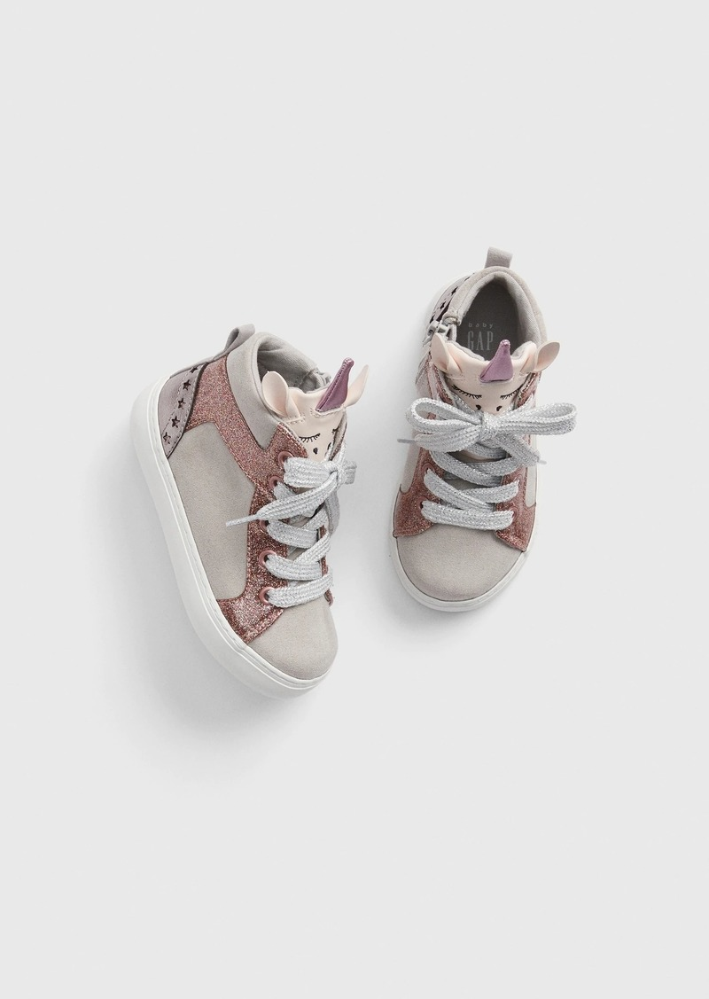 Gap Toddler Glitter Unicorn Hi-Top Sneakers