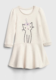 Gap Toddler Graphic  Fit and Flare Dress