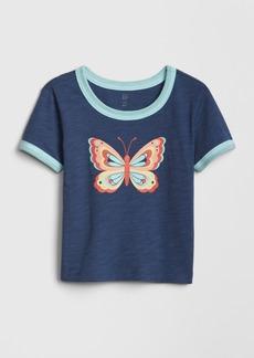 Gap Toddler Graphic Ringer Short Sleeve T-Shirt