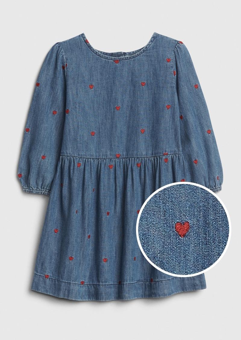 Gap Toddler Heart Denim Dress