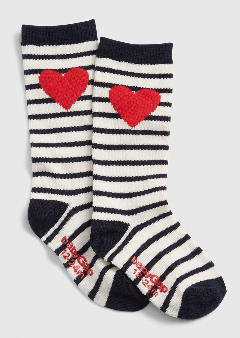 Gap Toddler Heart Stripe Knee-High Socks