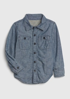 Gap Toddler Jersey-Lined Chambray Shirt
