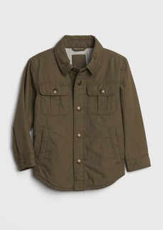 Gap Toddler Lined Poplin Shirt Jacket