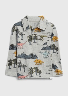 Gap Toddler Long Sleeve Graphic Jersey Polo Shirt