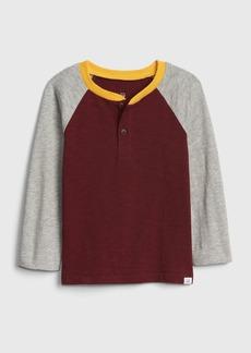 Gap Toddler Long Sleeve Henley T-Shirt