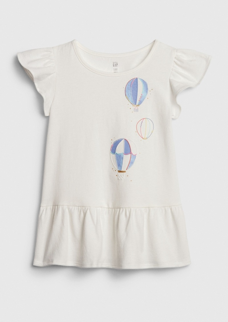 Gap Toddler Peplum Graphic T-Shirt