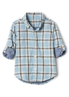 Gap Toddler Plaid Double-Woven Convertible Shirt