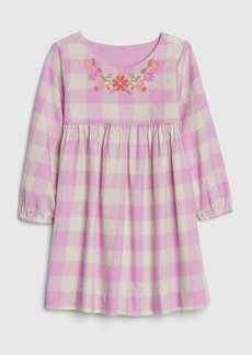 Gap Toddler Plaid Embroidered Dress