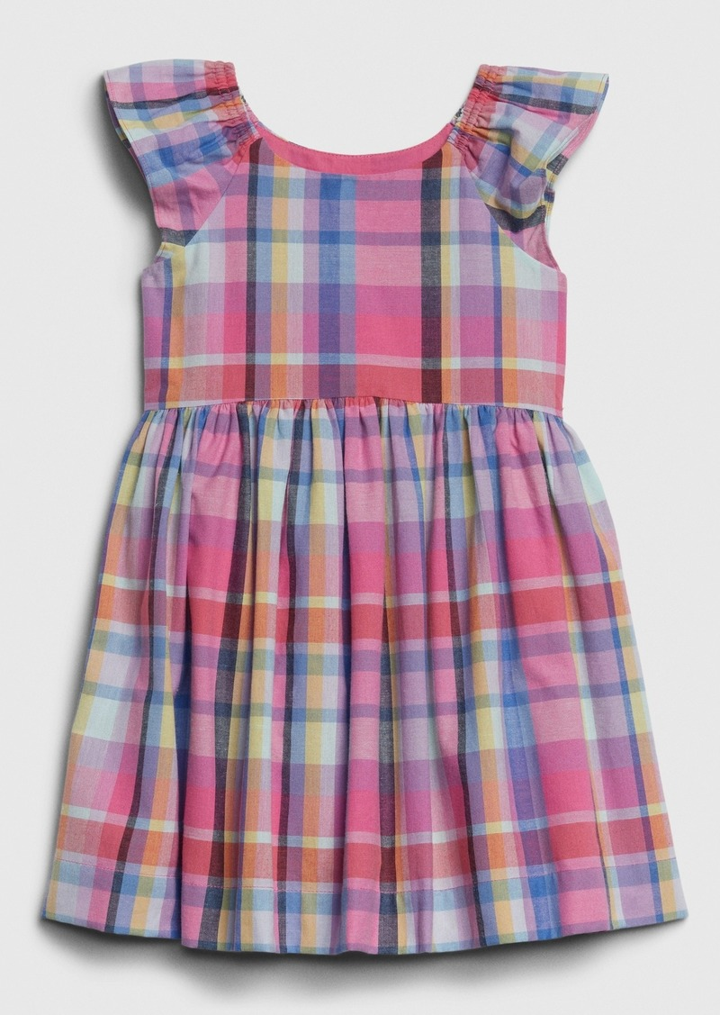 Gap Toddler Plaid Flutter Dress