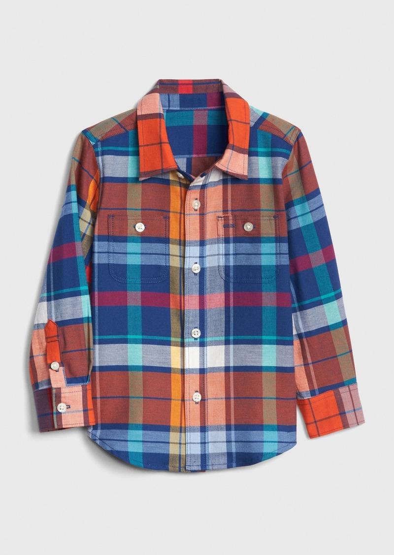 Gap Toddler Plaid Long Sleeve Shirt