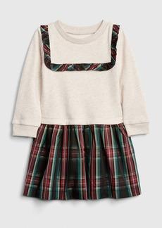 Gap Toddler Plaid Mix-Media Dress