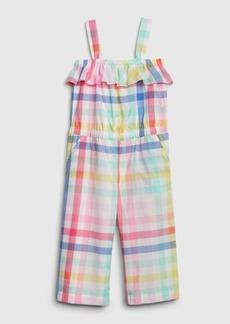 Gap Toddler Plaid Ruffle Jumpsuit