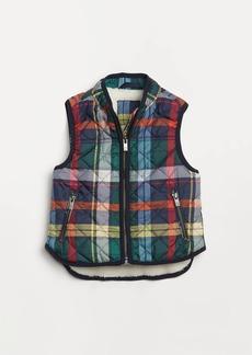 Gap Toddler Plaid Sherpa-Lined Vest