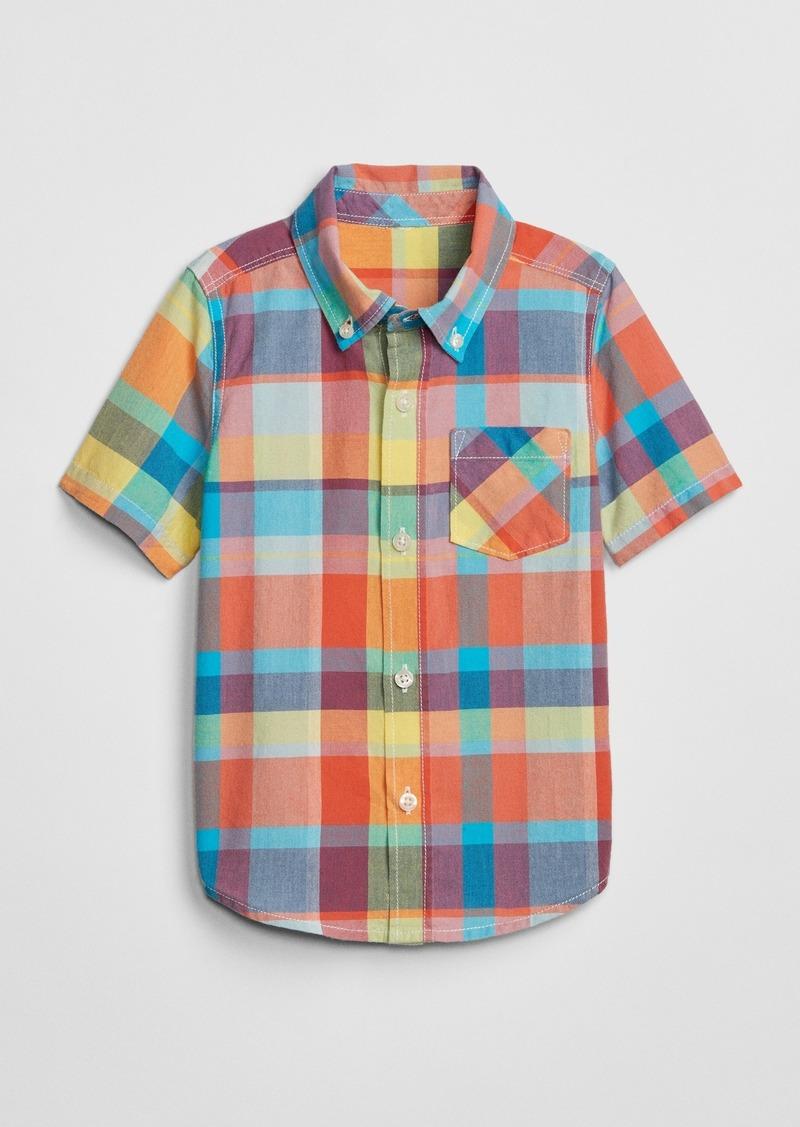 Gap Toddler Plaid Short Sleeve Shirt