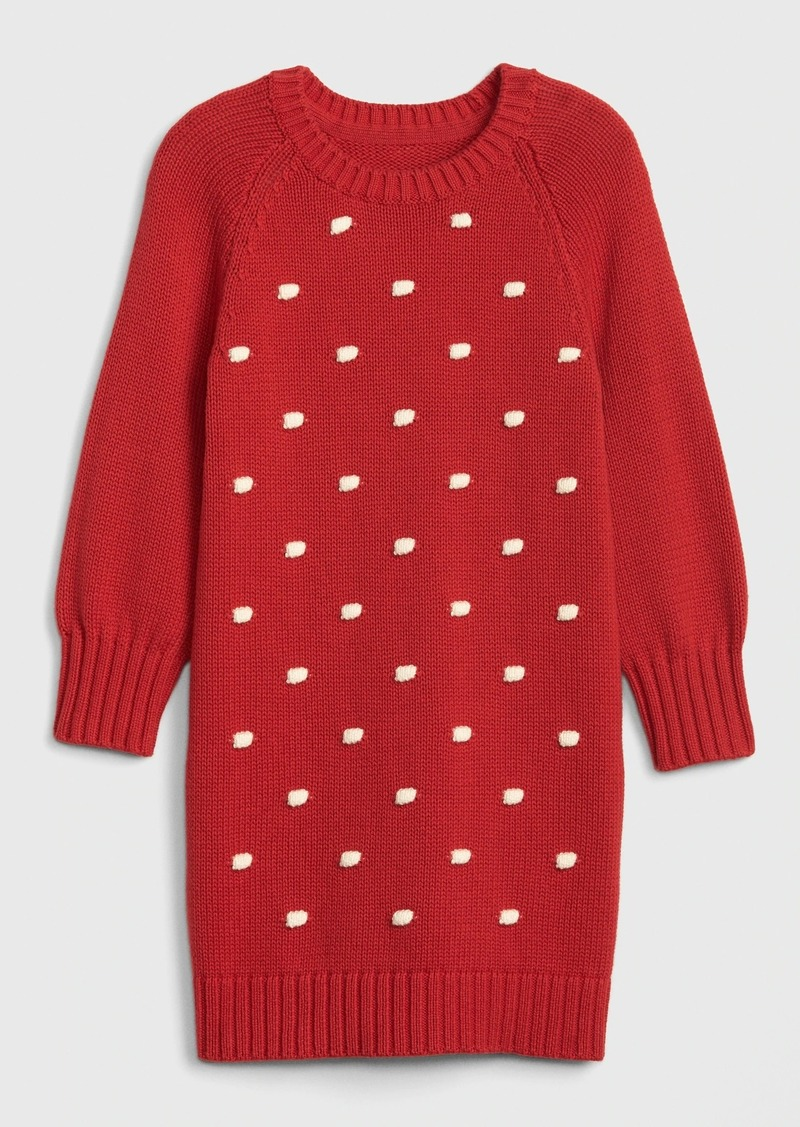 Gap Toddler Popcorn-Knit Sweater Dress